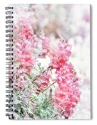 Pink Snapdragons Watercolor Spiral Notebook