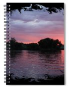 Pink Sunset Panorama With Black Framing Spiral Notebook