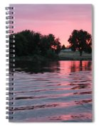 Pink Sunset With Soft Waves Spiral Notebook