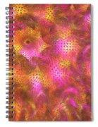 Pink Swirl Waves Spiral Notebook