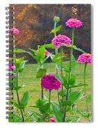 Pink Tall Zinnia's Spiral Notebook