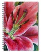 Pink Tiger Lily Spiral Notebook