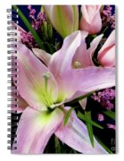Pink Tiger Lily Spiral Notebook