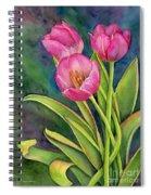 Pink Tulip Twist Spiral Notebook