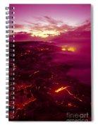 Pink Volcano Sunrise Spiral Notebook