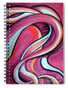 Pink Wave Of Energy. Abstract Vision Spiral Notebook