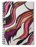Pink Waves Spiral Notebook