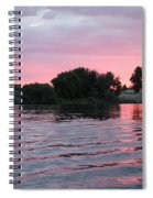 Pink Waves Sunset Spiral Notebook