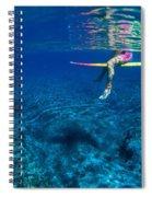 Pink & Yellow Surfboard Spiral Notebook