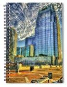 Pinnacle Building Sunset Nashville Shadows Nashville Tennessee Art Spiral Notebook