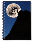 Pinon Pine And Moon Zion National Park  Spiral Notebook