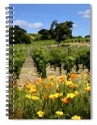 Pinot Noir And Poppies Spiral Notebook