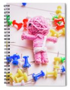 Pins And Needles Mummy Voodoo Doll Spiral Notebook