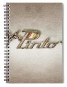 Pinto Car Badge Spiral Notebook
