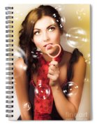 Pinup Girl Blowing Love Kiss. American Retro Style Spiral Notebook