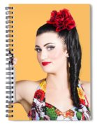 Pinup Woman Holding A Cleaning Spray Bottle Spiral Notebook