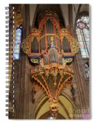 Pipe Organ In Strasbourg Cathedral Spiral Notebook