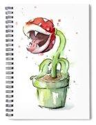 Piranha Plant Watercolor Spiral Notebook