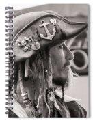 Pirate Profile Spiral Notebook