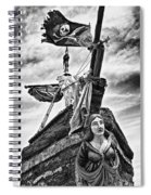 Pirate Ship And Black Flag Spiral Notebook