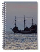 Pirate Ship At Clearwater Spiral Notebook