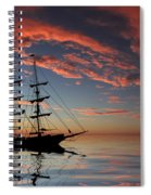 Pirate Ship At Sunset Spiral Notebook