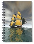 Pirate Ship On The High Seas Spiral Notebook