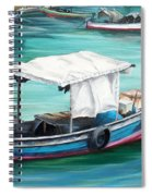 Pirogue Fishing Boat  Spiral Notebook