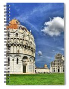 Pisa - Baptistry Duomo And Leaning Tower Spiral Notebook