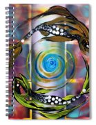 Pisces With Six Fence Lotus Spiral Notebook