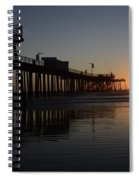 Pismo Beach Pier California 4 Spiral Notebook