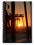 Pismo Beach Pier California 5 Spiral Notebook