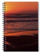Pismo Beach Sunset Spiral Notebook