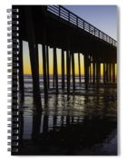 Pismo Sunset Wharf Spiral Notebook
