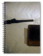 Pistol And Bible Spiral Notebook