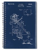 Pitch Fork Fiddle And Drum Patent 1936 - Blue Spiral Notebook