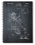 Pitch Fork Fiddle And Drum Patent 1936 - Chalk Spiral Notebook