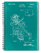 Pitch Fork Fiddle And Drum Patent 1936 - Green Spiral Notebook