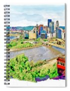 Pittsburgh Aerial View Spiral Notebook