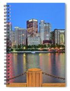 Pittsburgh At Waters Edge Spiral Notebook