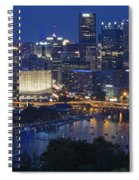 Pittsburgh Blue Hour Panoramic Spiral Notebook