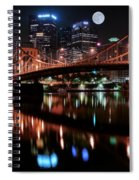 Pittsburgh Full Moon Spiral Notebook