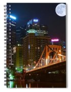Pittsburgh Full Moon Panoramic Spiral Notebook