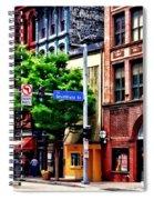 Pittsburgh Pa - Liberty Ave And Smithfield Street Spiral Notebook