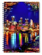 Pittsburgh Skyline Art Spiral Notebook
