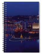 Pittsburgh Skyline At Night Christmas Time Spiral Notebook