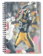 Pittsburgh Steelers Antonio Brown 2 Spiral Notebook