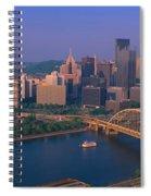 Pittsburgh,pennsylvania Skyline Spiral Notebook