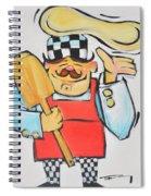 Pizza Chef Spiral Notebook
