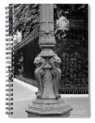 Place Charles De Gaulle - Black And White Spiral Notebook